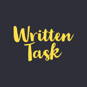 Written Task Case Study Graduate Job
